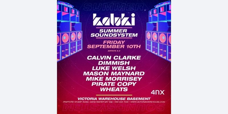 Kaluki Summer Sound System Closing Party - Victoria Warehouse - Manchester
